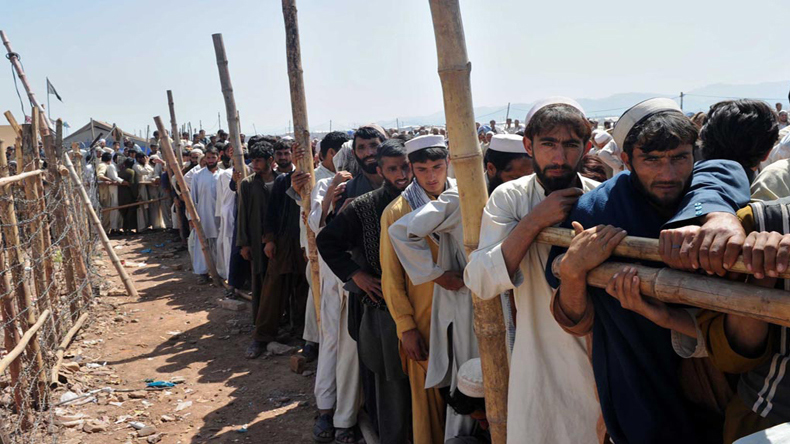 Pakistan started documentation of around 1 million unregistered Afghan refugees   Image for pictorial representation