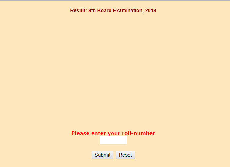 BSER Class 8th Results 2018