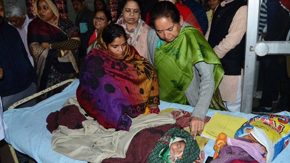 More than 100 infants have died at the J K Lon Hospital in Rajasthan's Kota district.