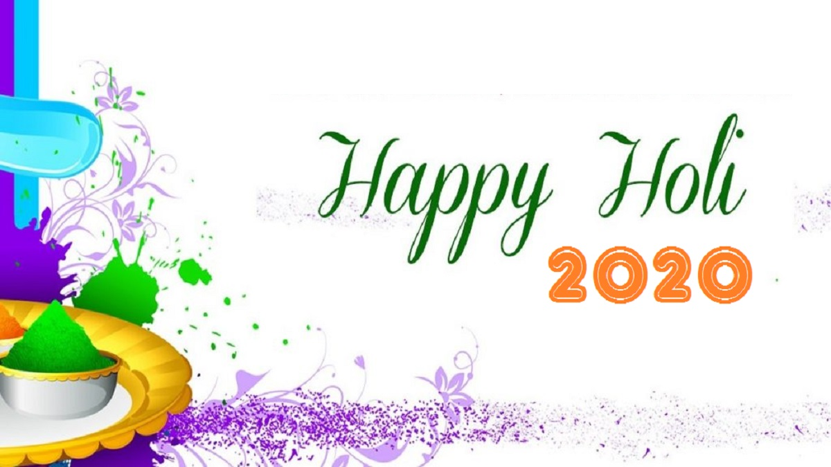 Happy Holi wishes images, messages, in English, Best Happy Holi 2020 Whatsapp status, Wallpapers & SMS
