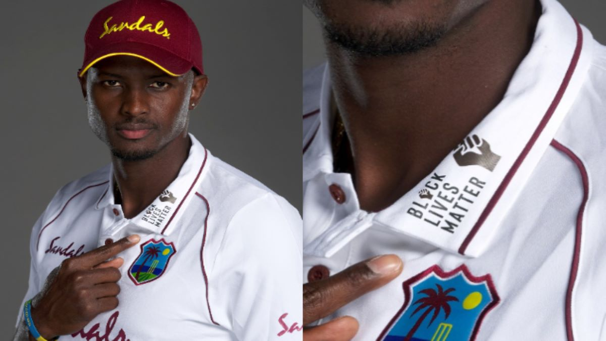 Jason Holder in the new West Indies jersey