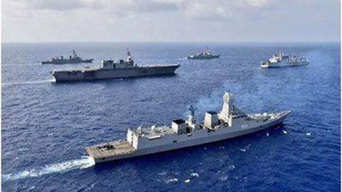 Naval drills in South China Sea