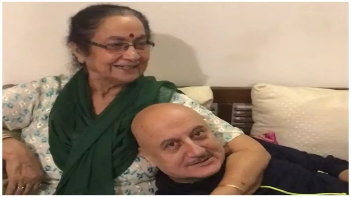 Anupam Kher and his mother