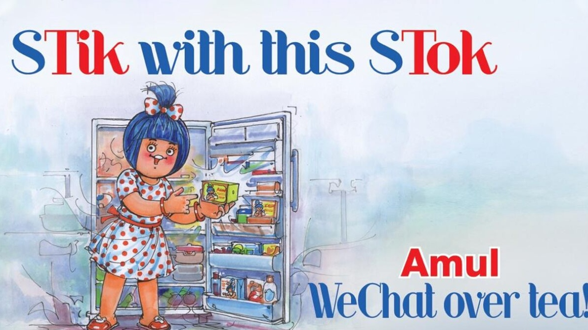 Amul India's creative jibe on Chinese app ban: STik with this STok, WeChat over tea