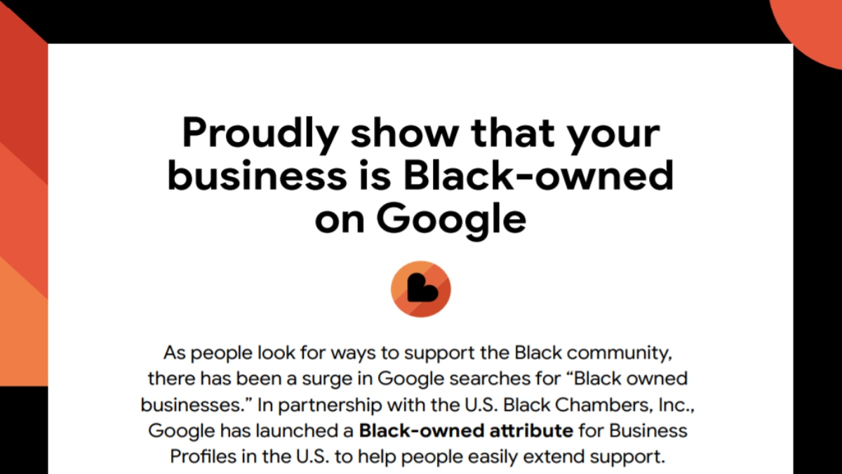 Black-owned businesses supported by Google