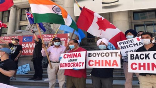 Anti-China protests in Vancouver
