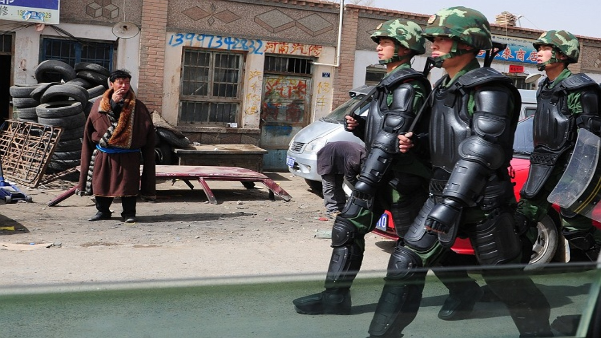 Chinese authorities have forcefully relocated close to 60 Tibetans