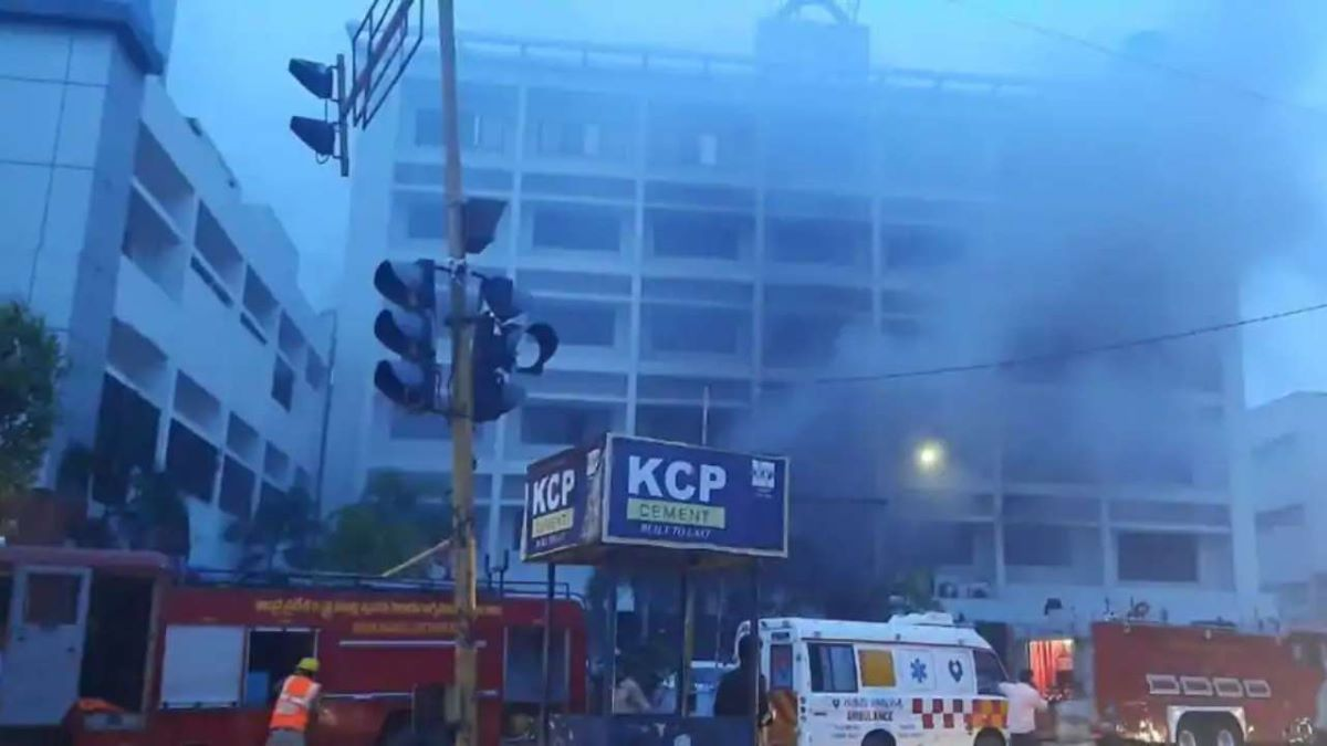 Fire breaks out at private Covid facility in Vijayawada