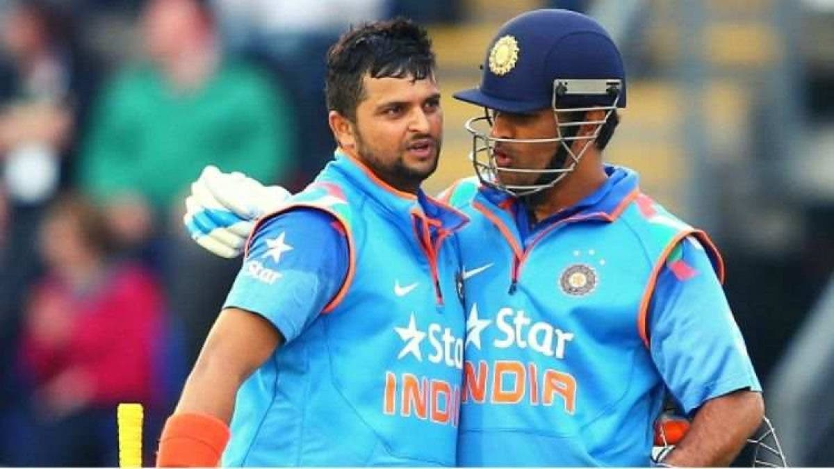 Dhoni and Raina