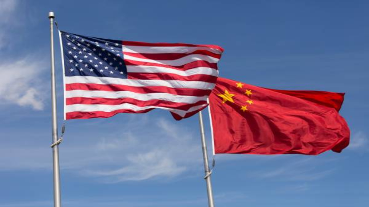Flags of US-China