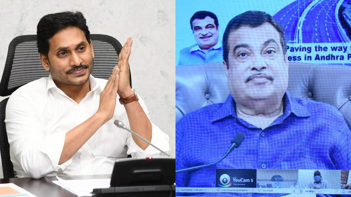 AP CM YS Jagan Mohan Reddy, Union minister Nitin Gadkari lay foundation stones to 26 projects
