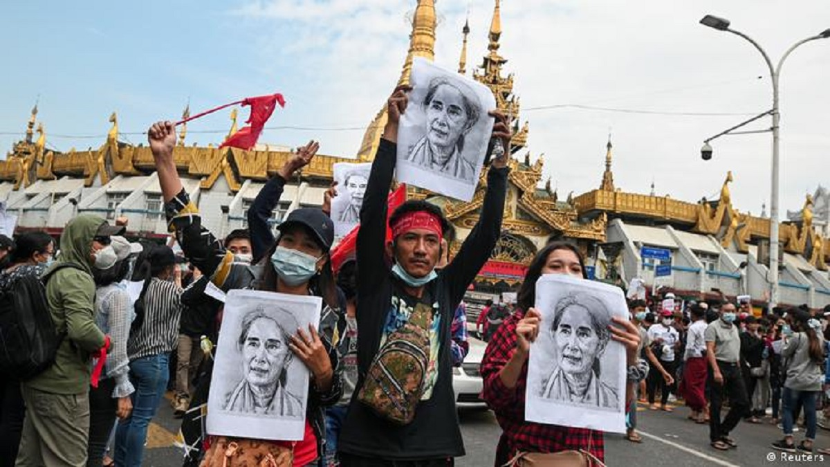 People protest against Military coup in Myanmar