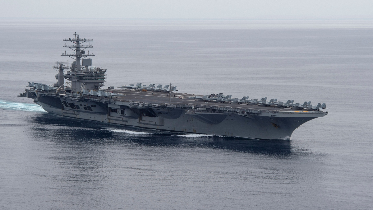 USS Nimitz leaves Middle East and enter Indo-Pacific region; Increases presence in South China Sea