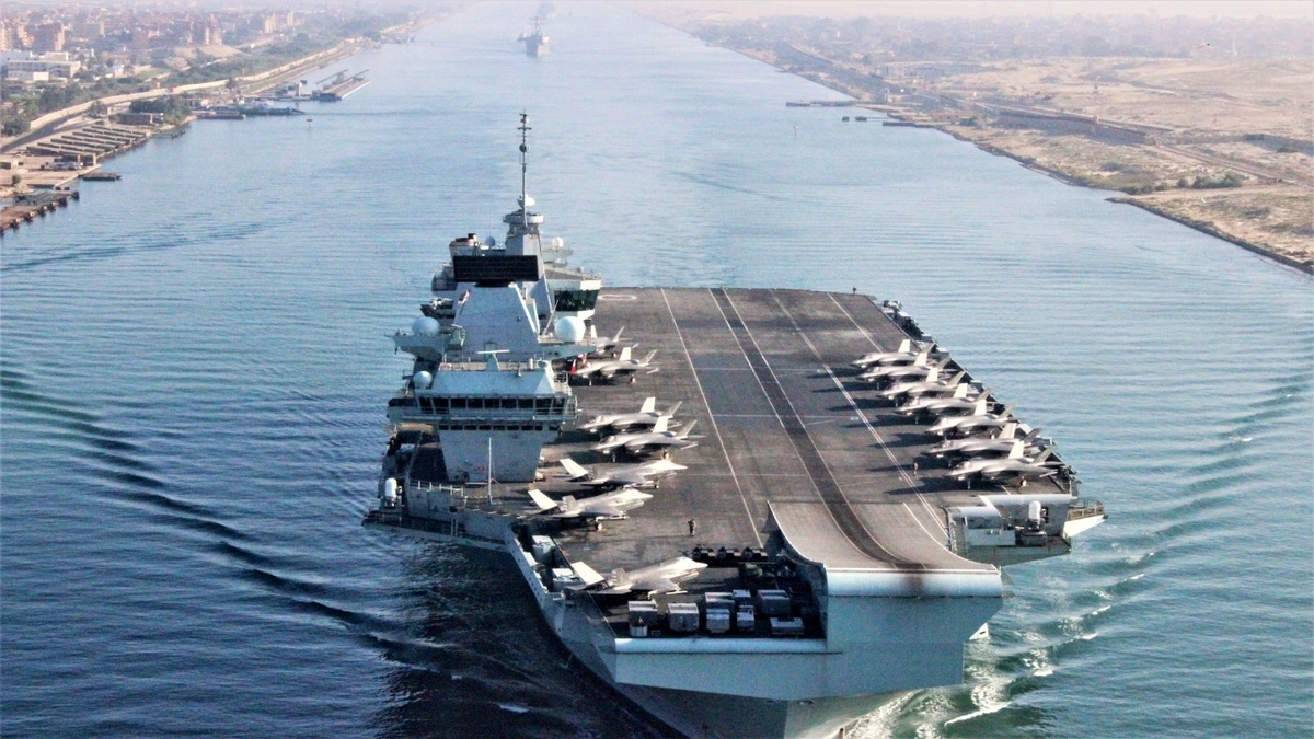 UK carrier strike force enters Indian ocean to conduct joint military drills