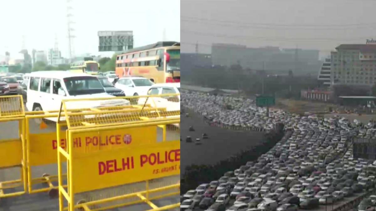Bharat Bandh: Delhi-Ghazipur border shut for traffic; jams on Gurugram border, DND flyway