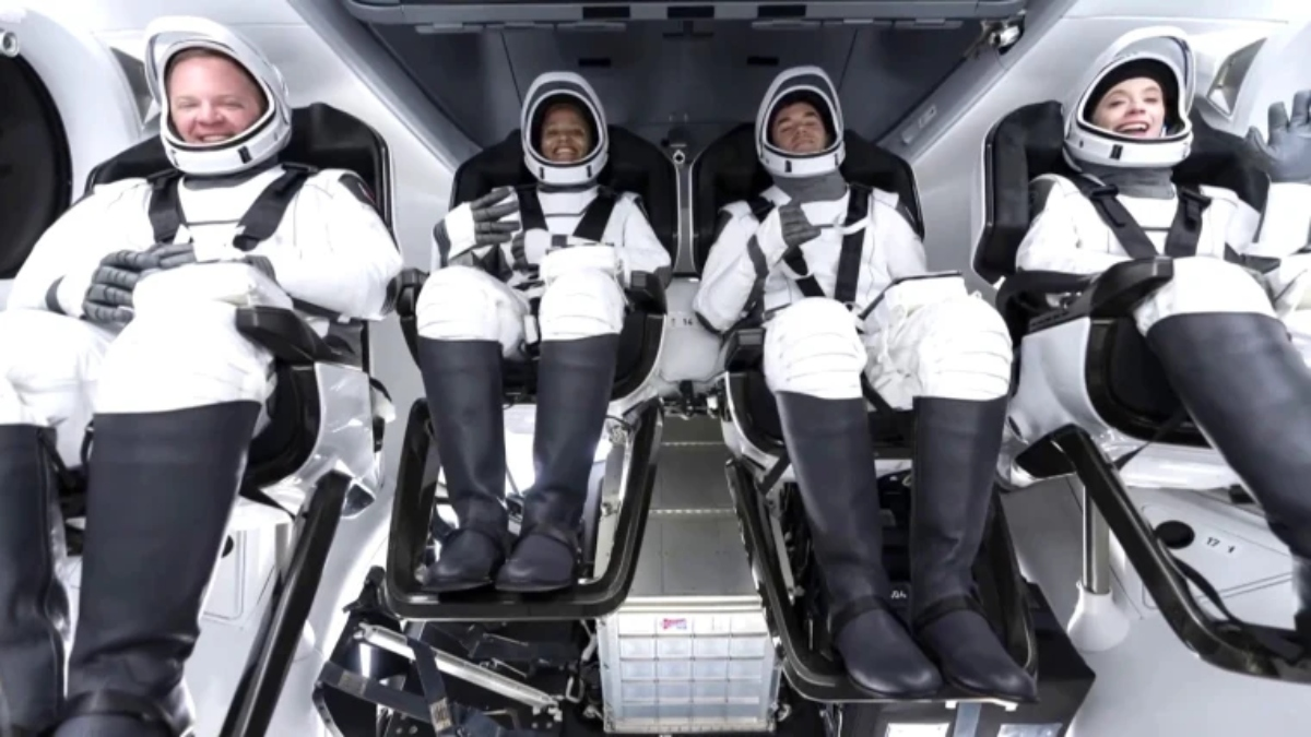SpaceX launches spaceship with first-ever fully civilian crew on board